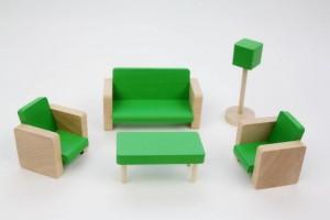 Dřevěný nábytek zelený